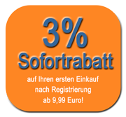 3% Sofortrabatt beim ersten Einkauf nach Registrierung